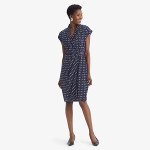 NWT MM Lafleur Jasmine Navy Blue viscose dress 0P